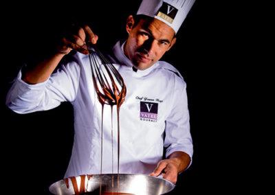 Veste de cuisine brodée logo Vatel Gourmet Lyon