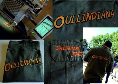 Chemise brodée dos au logo Oullindiana Oullins