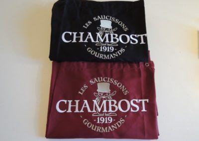 Tablier brodé au logo Chambost
