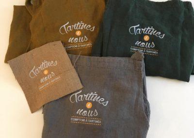 Tablier brodé au logo pour restaurant Lyon