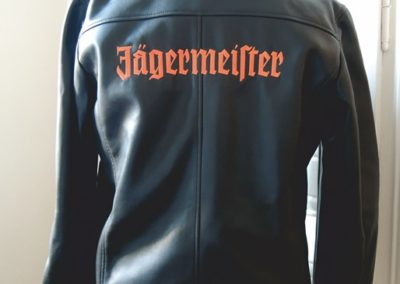 Veste perfecto homme brodée dos logo Jagermeister